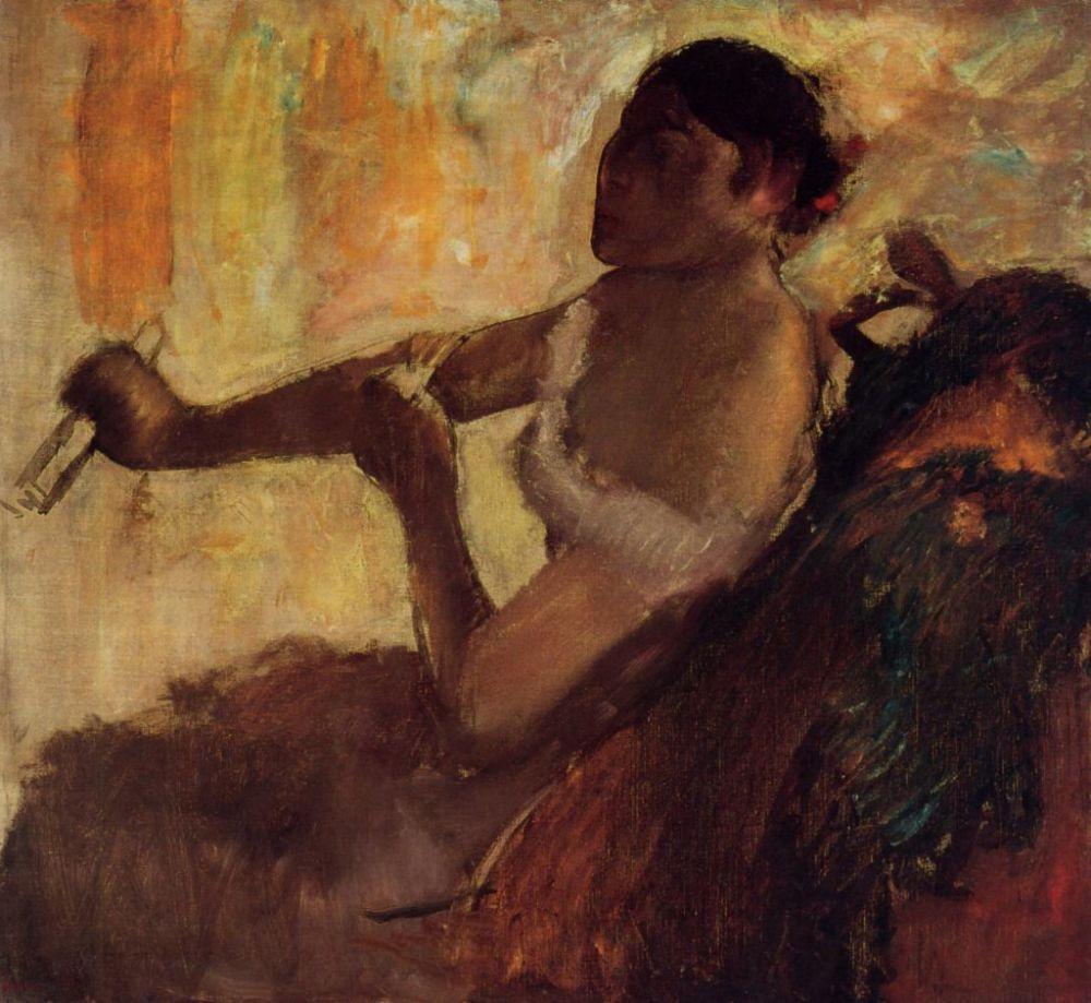 Edgar Degas. Rose Caron (Female, pulls the glove)