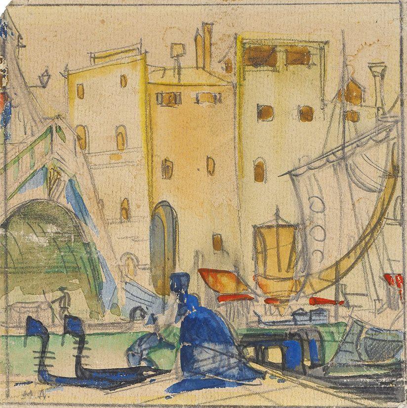 Mstislav Dobuzhinsky. Venice. 1920s