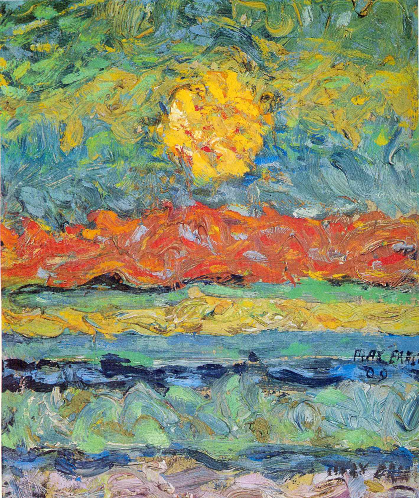 Max Ernst. Landscape with the sun