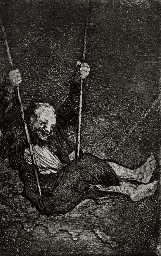Франсиско Гойя. Старик на качелях