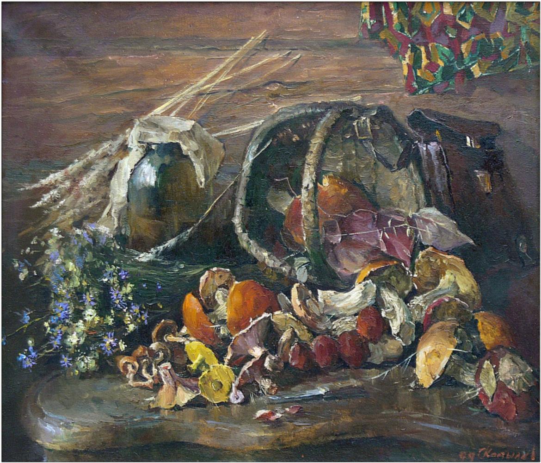 Sergey Anatolyevich Kostylev (Uralsky). Still life with mushrooms
