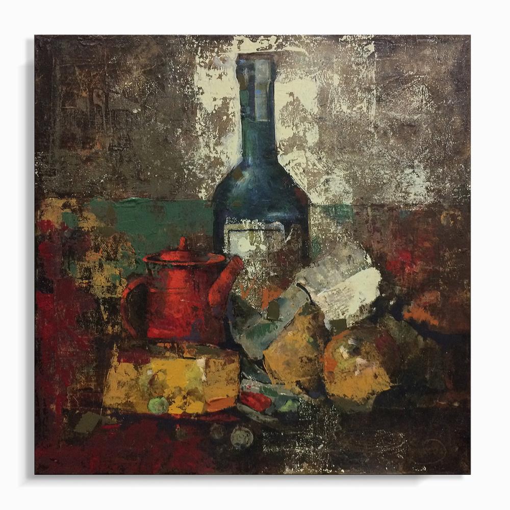 Mike Bezloska. Still life with wine