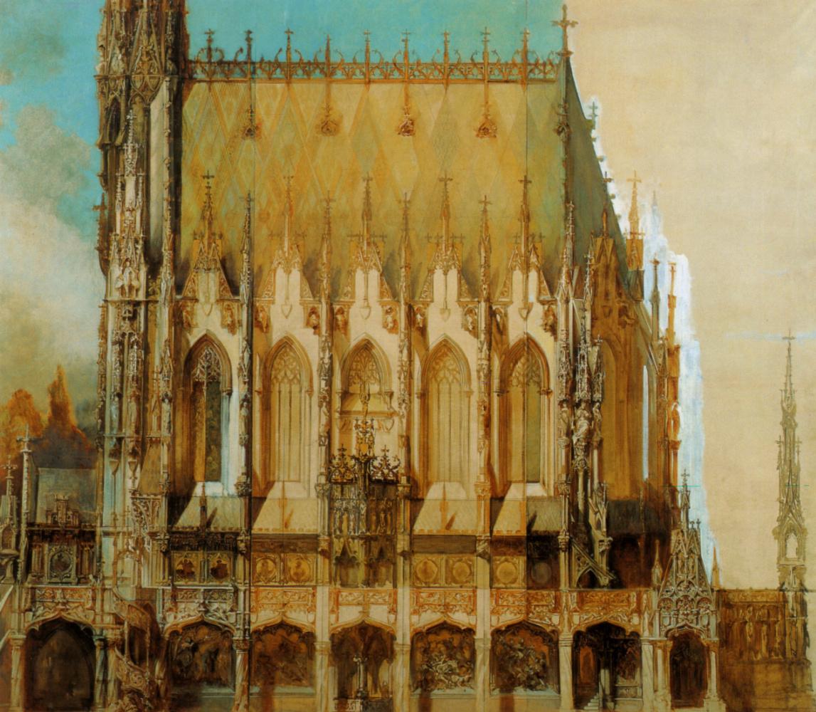 Ганс Макарт. Церковь, вид сбоку Святого Михаила