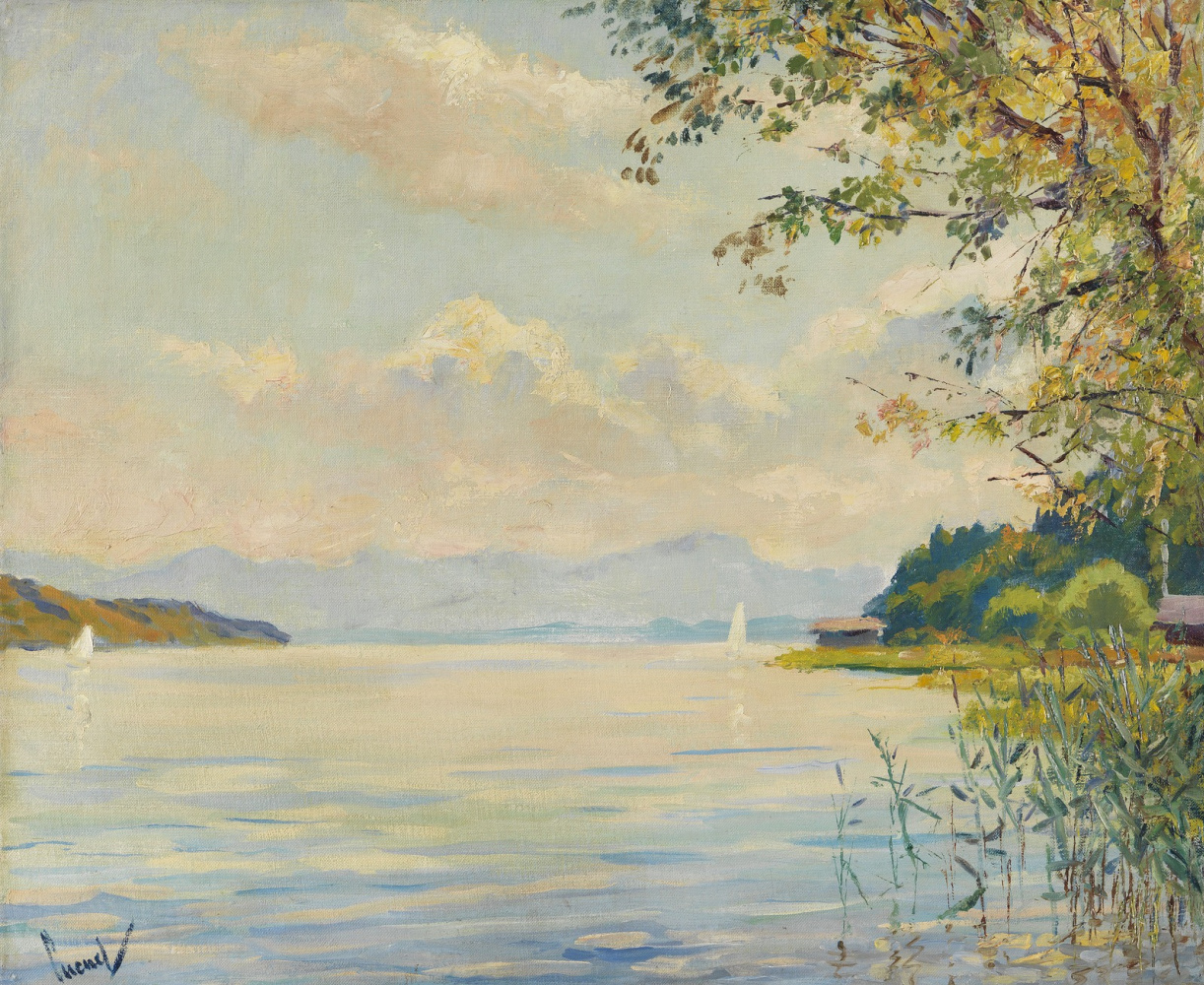 Edward Cucouel. View of the lake Starnberger See. Around 1920