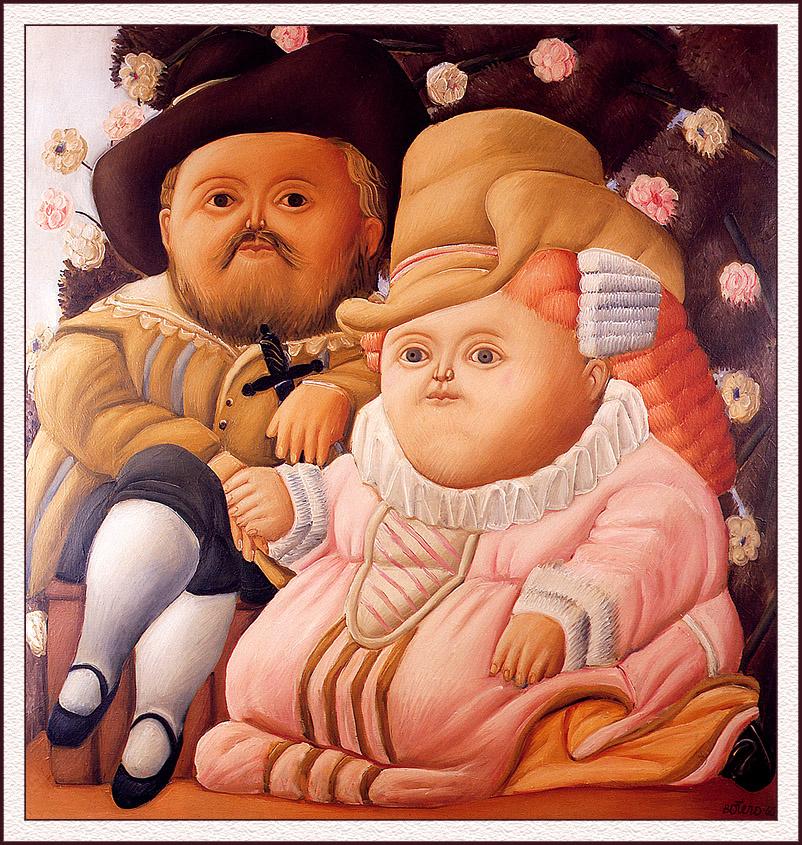 Фернандо Ботеро. Рубенс и его жена
