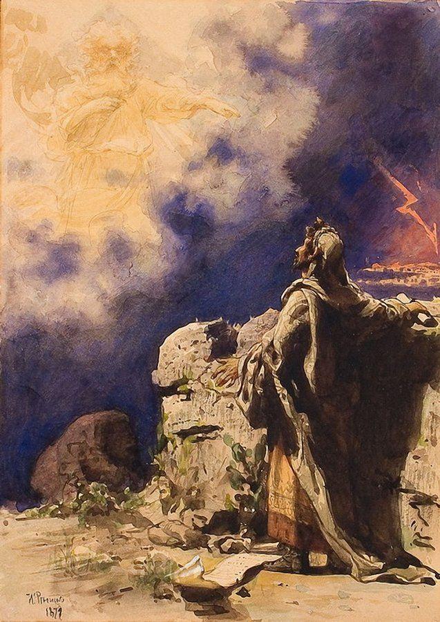 Ilya Efimovich Repin. The vision of the prophet Ezekiel