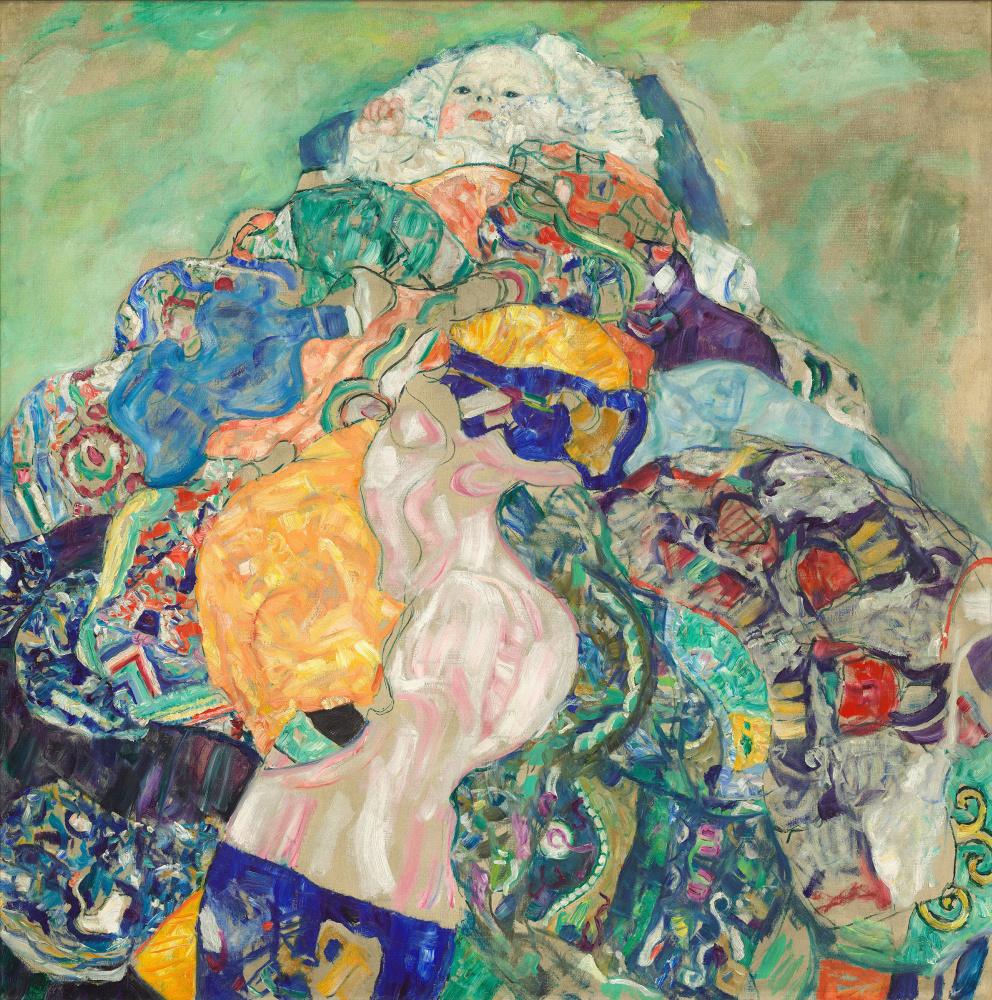 Gustav Klimt. Baby cradle