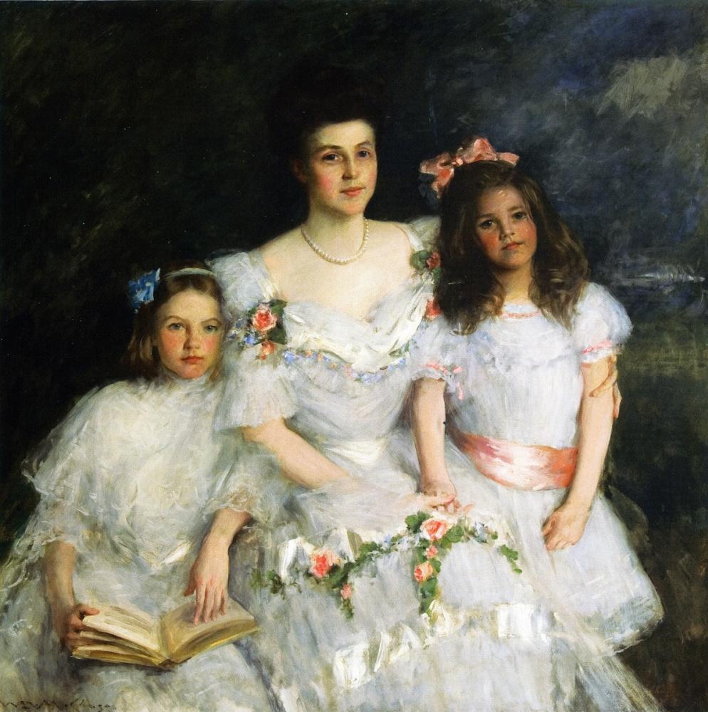 William Merritt Chase. Mother. Gustav, Lavinia and Nancy cook