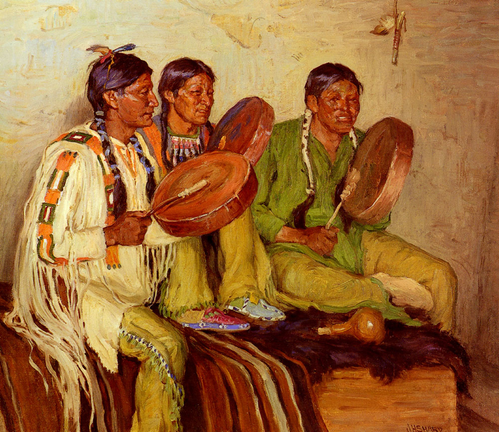 Joseph Henry Sharpe. Hunting-song of Indians