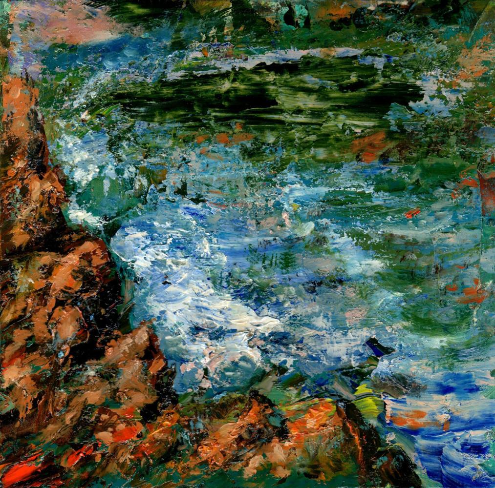 Vladimir Vasilyevich Abaimov. Rocks and Sea