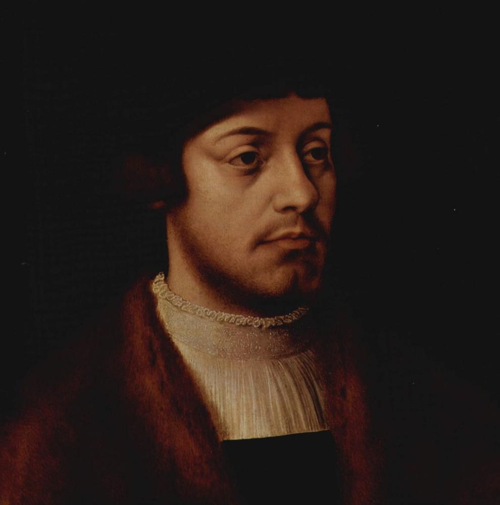 Бартоломеус Брейн. Портрет мужчины с сыновьями, фрагмент