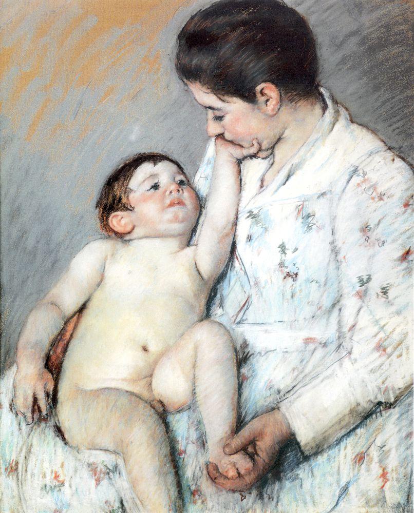 Mary Cassatt. Baby's first caress
