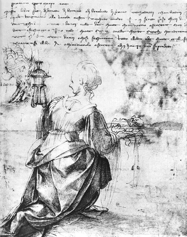 Микеланджело Буонарроти. Вид женщины сзади.