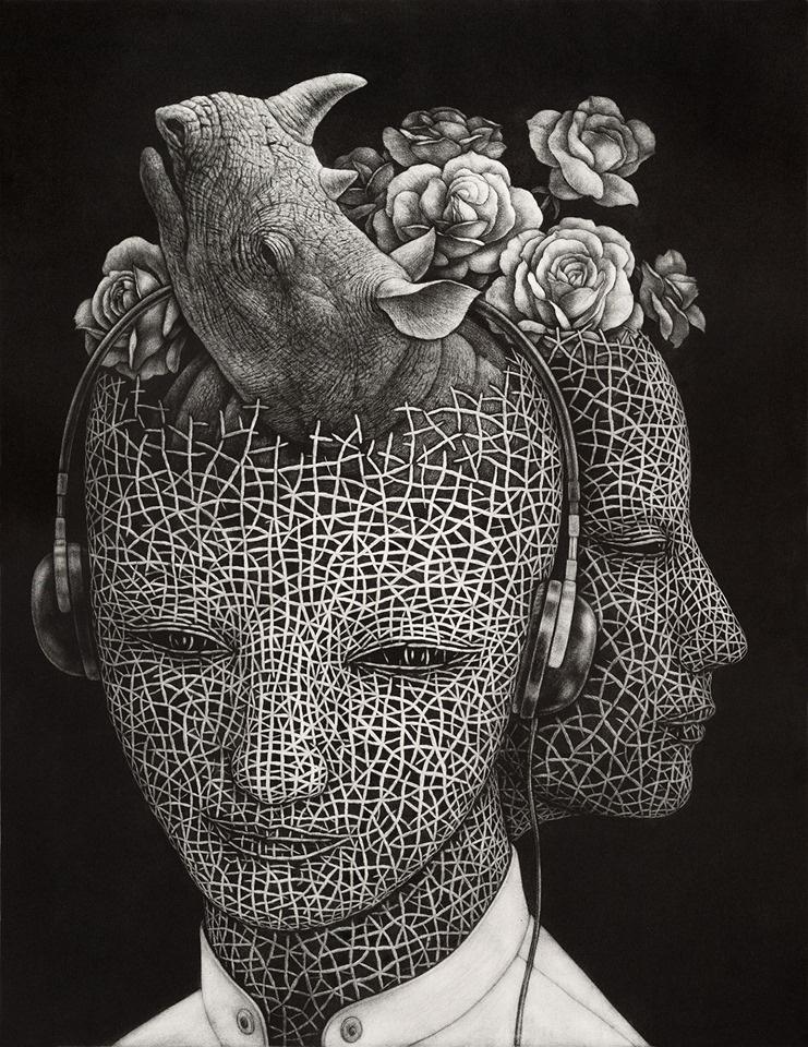 Atsuo Sakazume. Rhino in head, dreaming of rhino