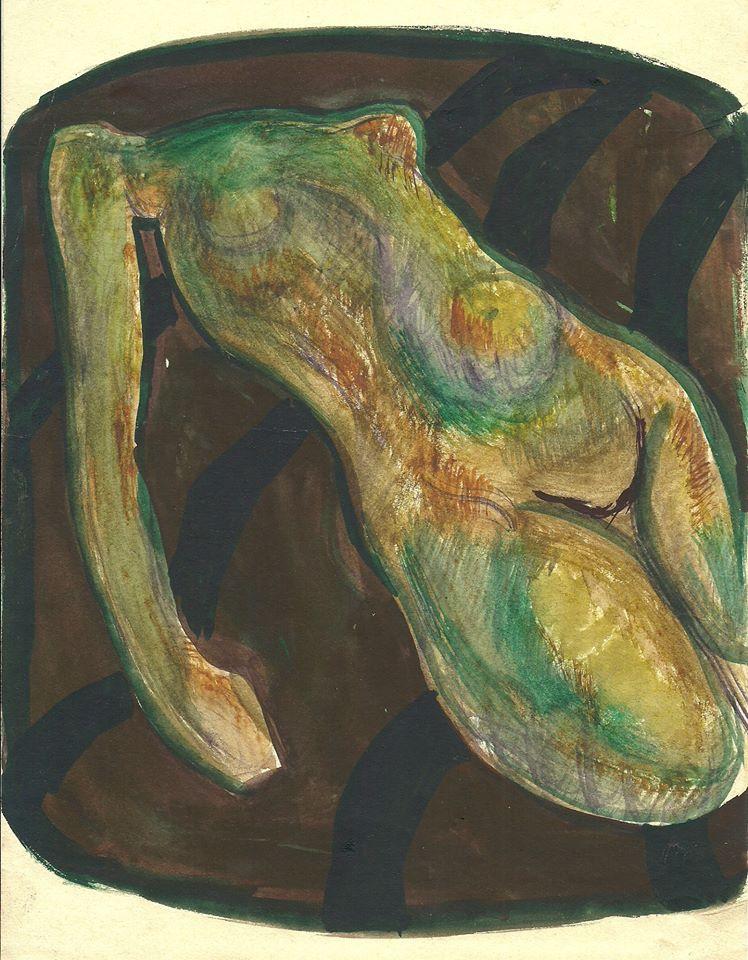 Victor Fedorov (1937-2010). Vladivostok.. Nude (Olive).