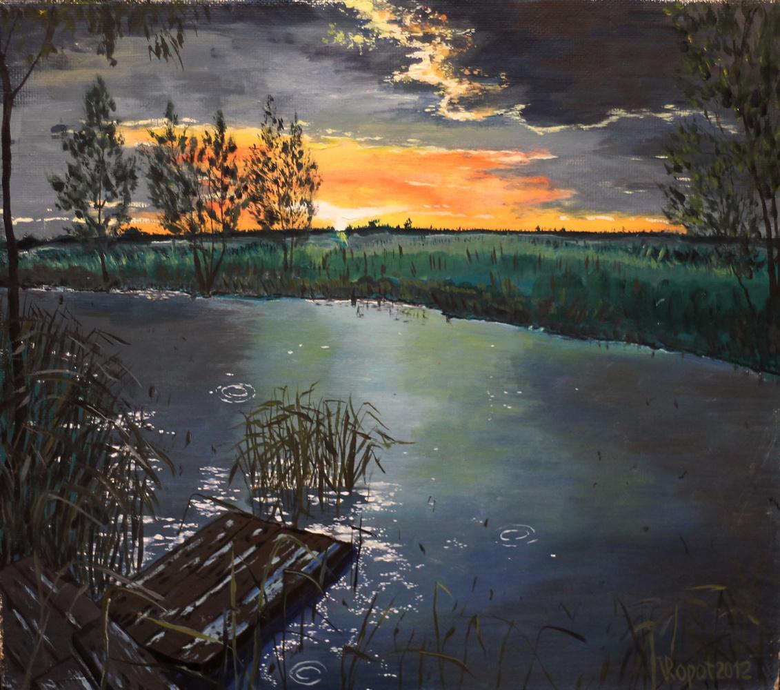 Vladimir Adamovich Ropot. Dawn at the Pond