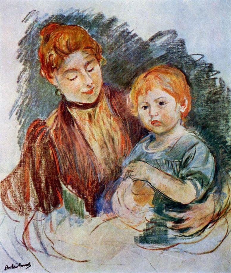 Берта Моризо. Женщина с ребенком