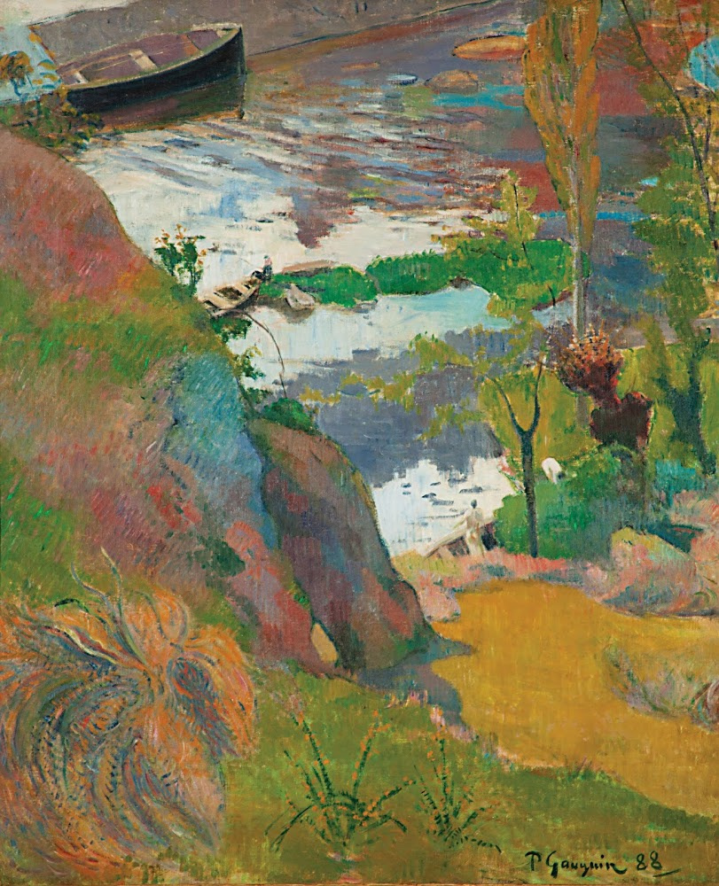 Paul Gauguin. Fishermen and Bathers on the Aven