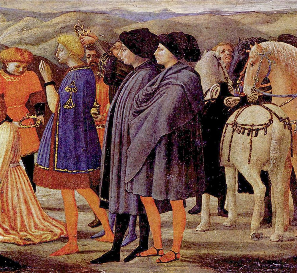 Томмазо Мазаччо. Полиптих церкви Санта Мария дель Кармине в Пизе, третья пределла: Поклонение волхвов