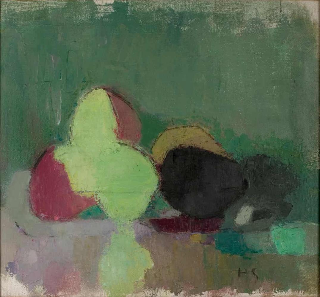 Helena Sophia Scherfbek. Still life with blackening apples