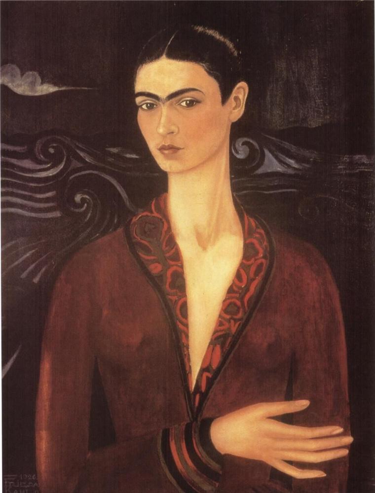 Frida Kahlo. Self portrait in a velvet dress