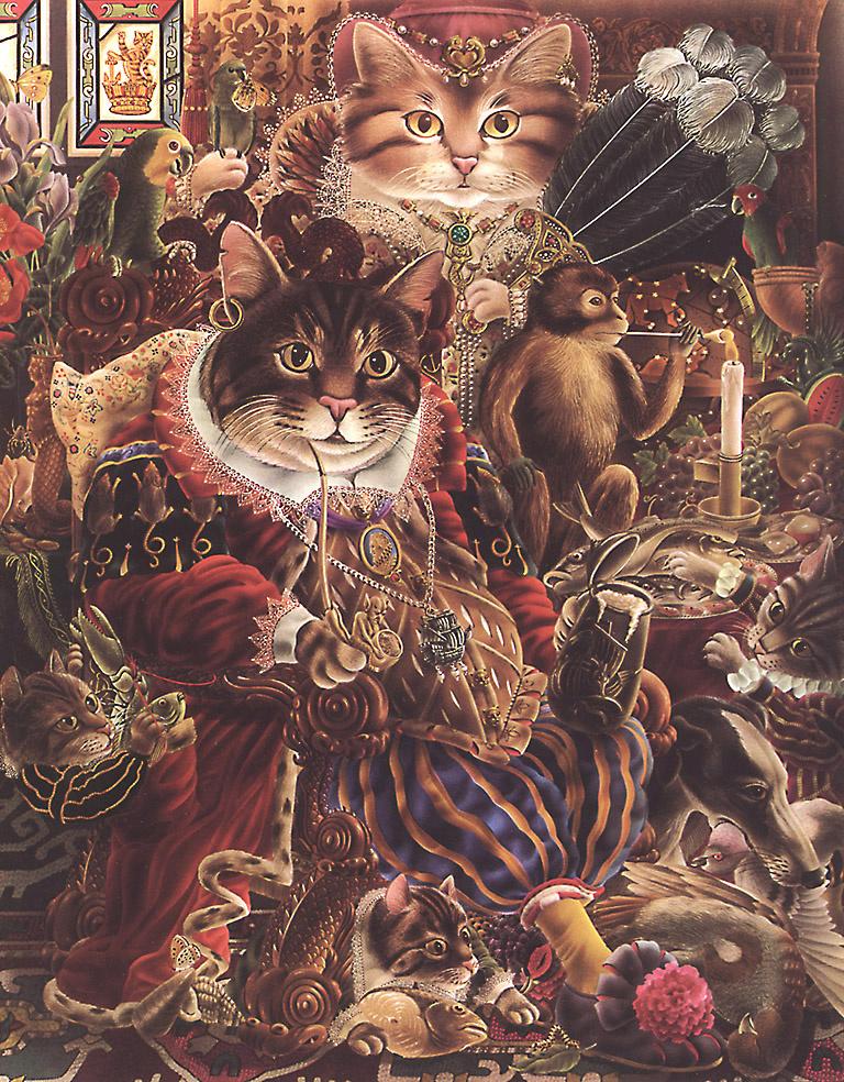 Алан Олдридж. Коты и обезььяна