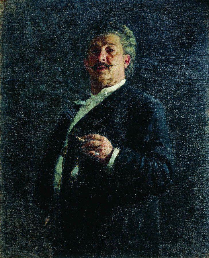 Илья Ефимович Репин. Портрет М. О. Микешина