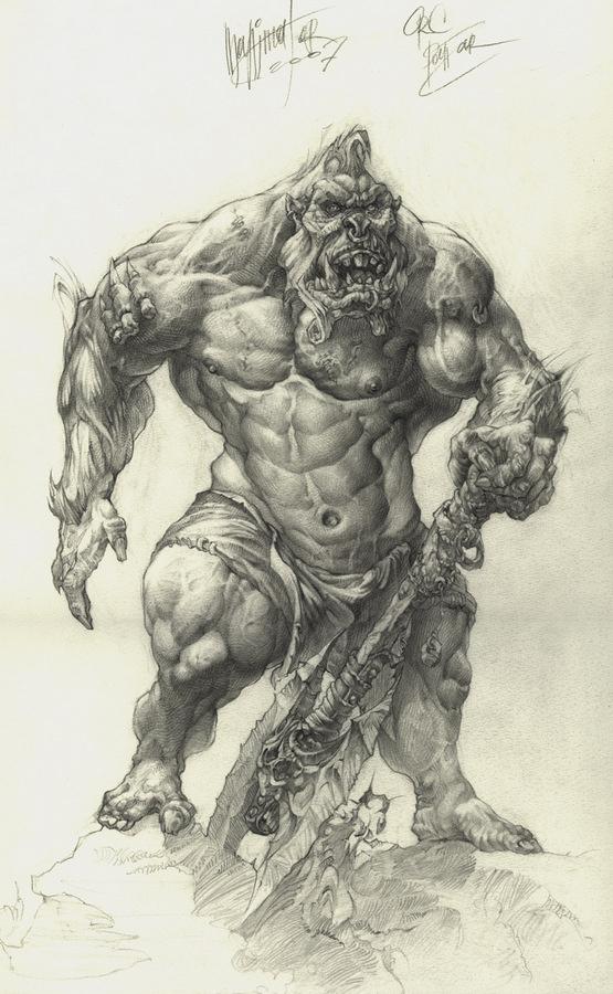 Alexander Nikolayevich Steshenko. Ork. A sketch of the character