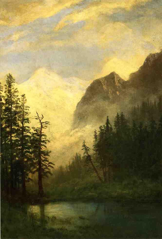 Альберт Бирштадт. Горный пейзаж