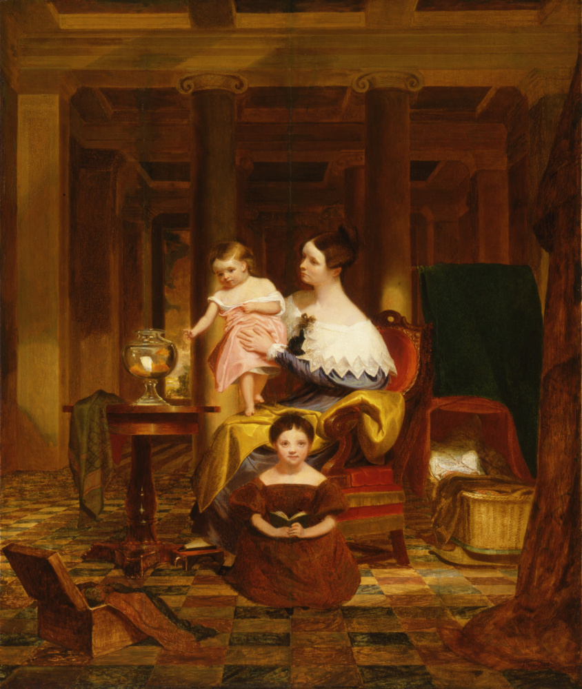 Сэмюэль Финли Бриз Морзе. Золотая рыбка (The Goldfish Bowl (Mrs. Richard Cary Morse and Family)