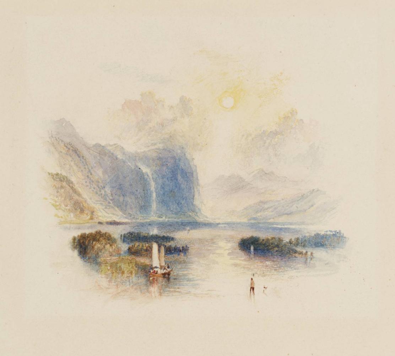"Joseph Mallord William Turner. Lake Keswick for ""Poems"" Rozhdersa"