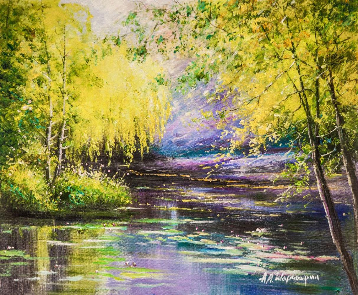 Andrey Sharabarin. Sunny willow