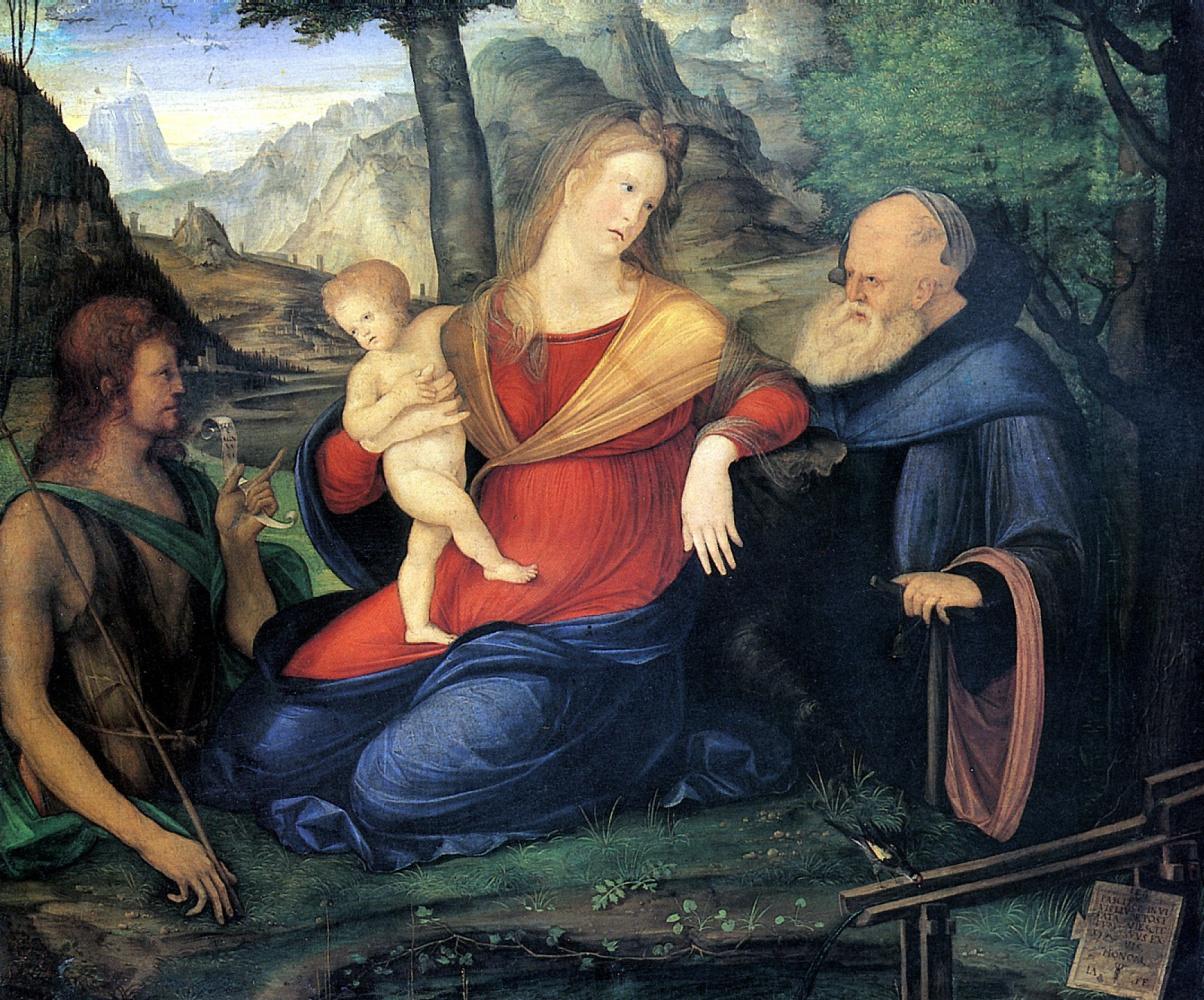 Jacopo de Barbary. Madonna at the fountain