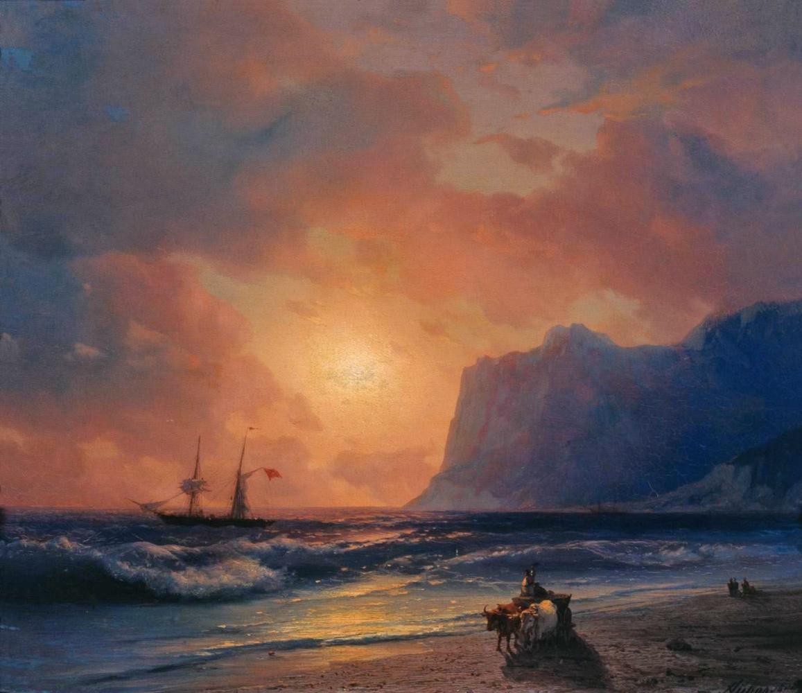 Ivan Aivazovsky. Sunset at sea