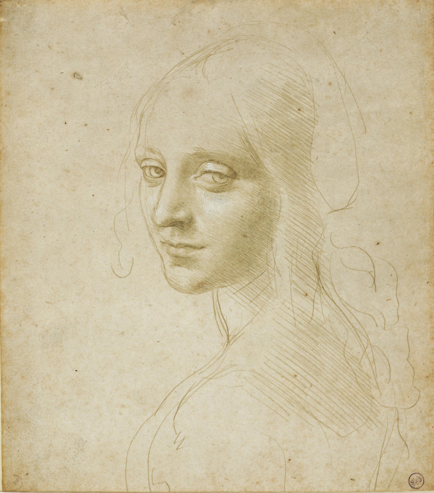 Леонардо да Винчи. Голова девушки
