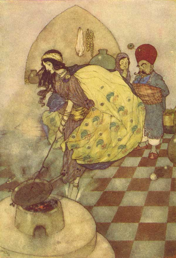 Edmund Dulac. The tale of the fisherman and the story of king Black островов01