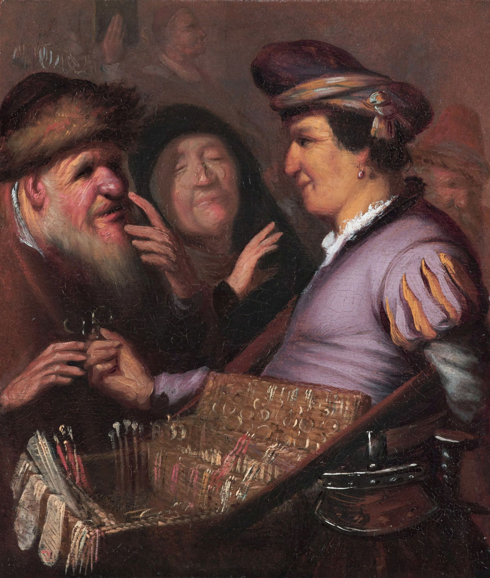 Рембрандт Харменс ван Рейн. Торговец очками (Зрение)