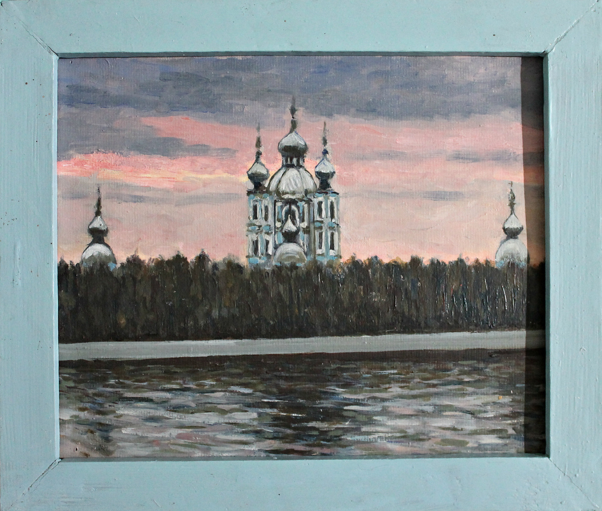 Victor Andreevich Chepurko. View of Smolny Cathedral