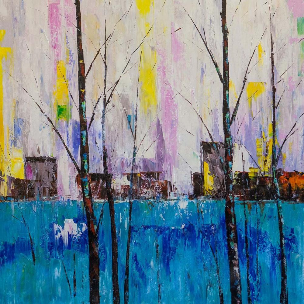 (no name). Trees. Blue version