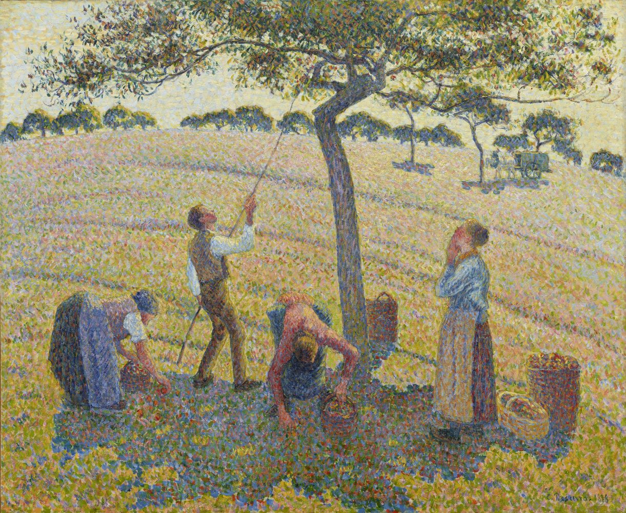 Camille Pissarro. Apple picking at Eragny
