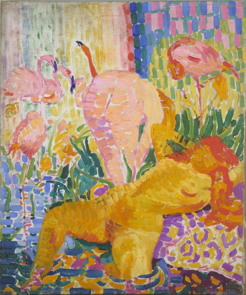 Робер Делоне. Обнажённые купальщицы и фламинго