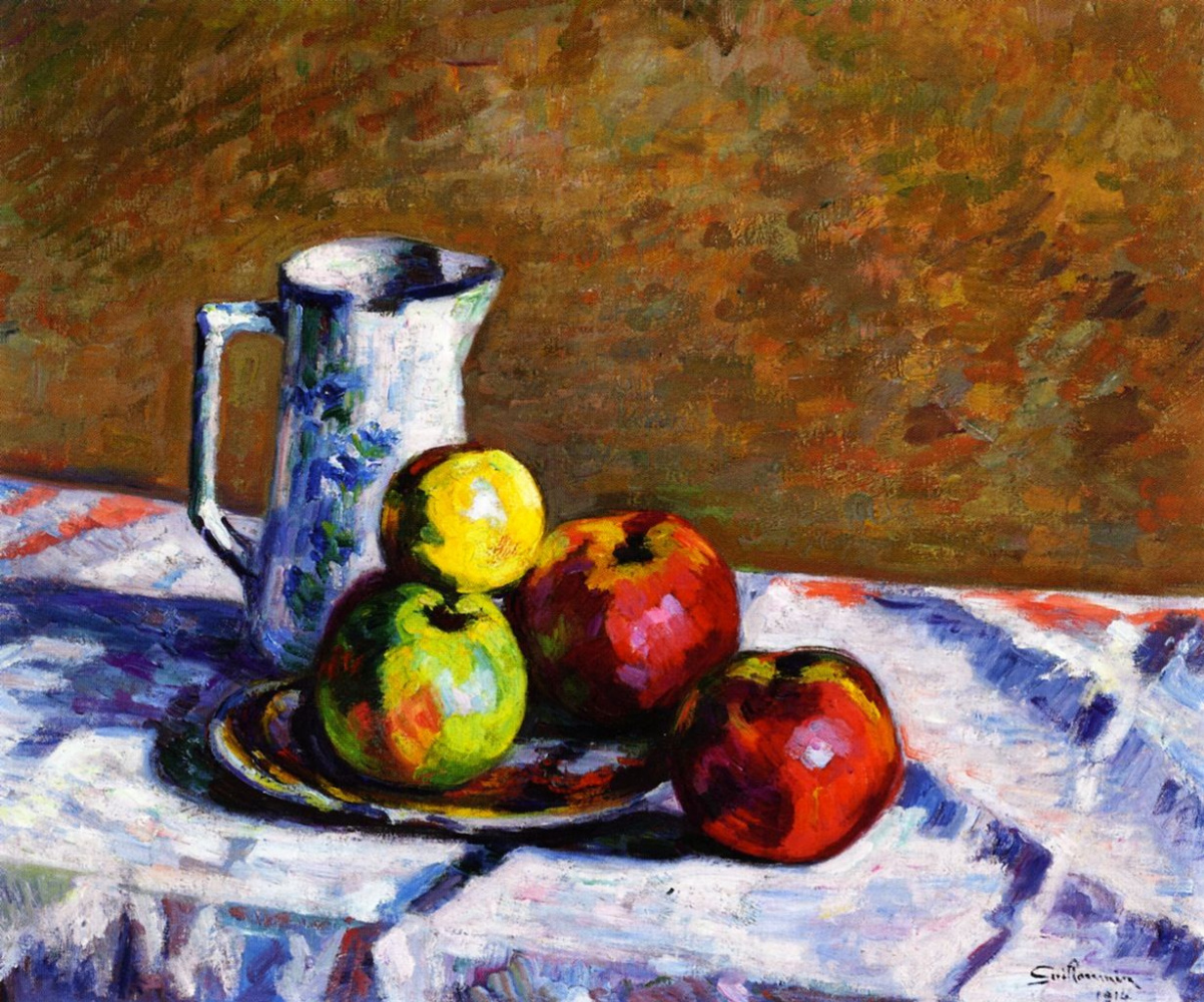 Armand Guillaumin. Still life with apples