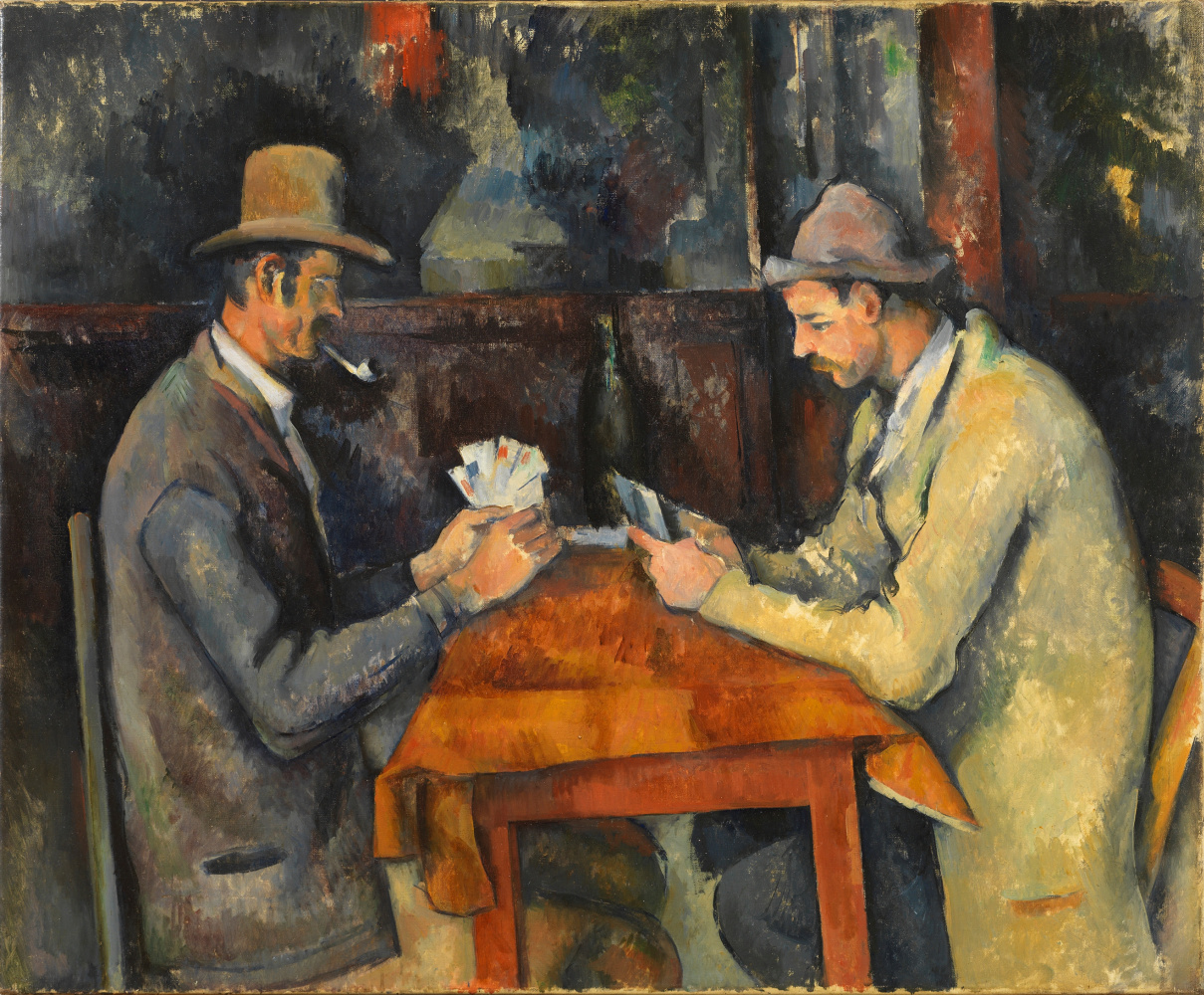 Paul Cezanne. Players in cards