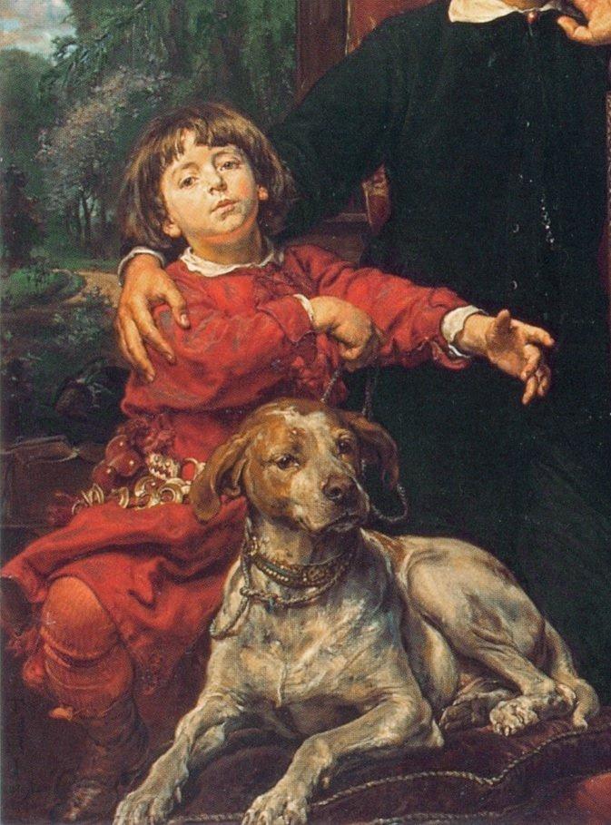 Ян Матейко. Портрет детей художника. Фрагмент