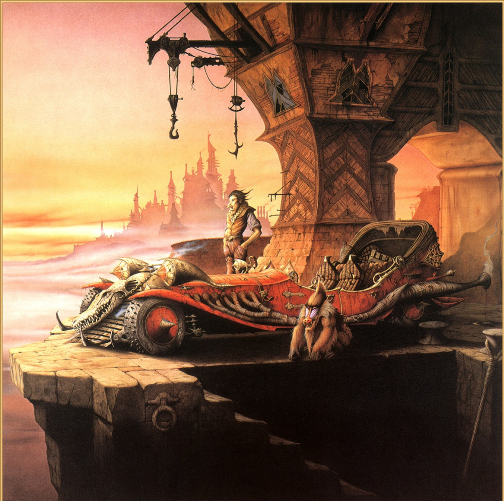Rodney Matthews. Face Luc and the beast