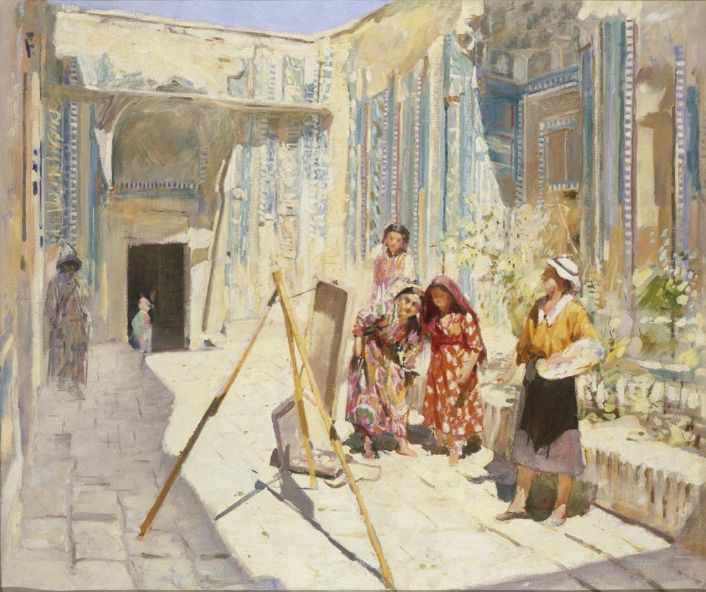 Pavel Petrovich Benkov. Artists in Shahi Zinda