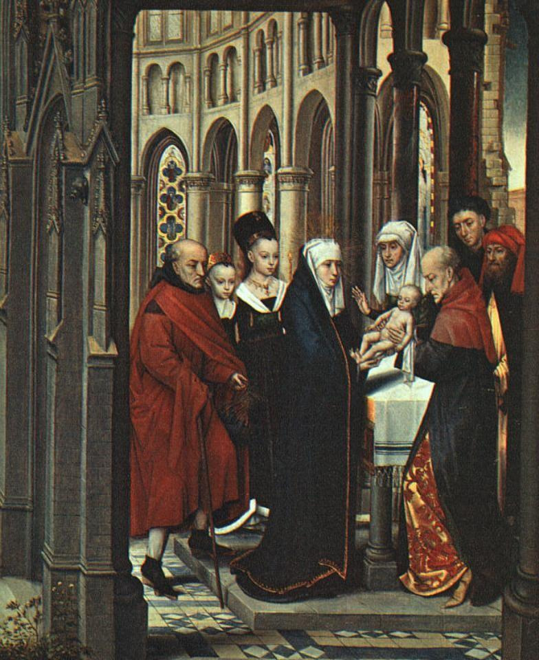 Hans Memling. In the temple