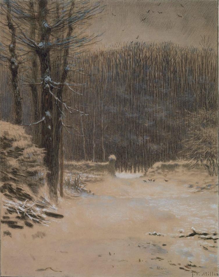 Jean-François Millet. Barbizon Winter Forest