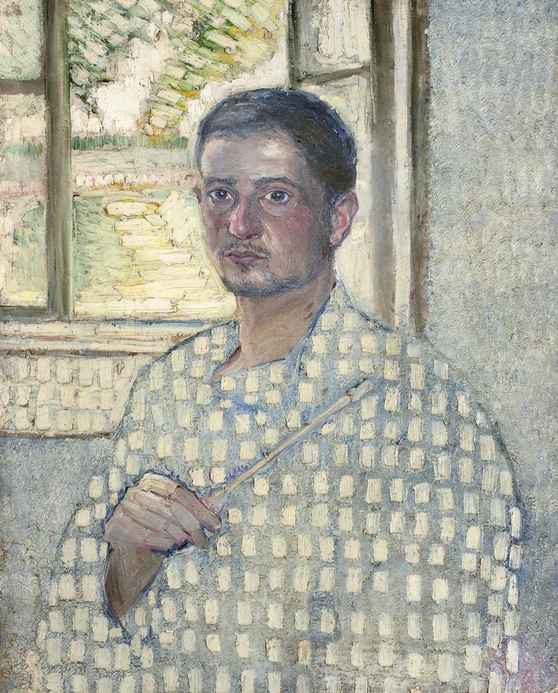 Владимир Давидович Баранов-Россине. Автопортрет с кистью