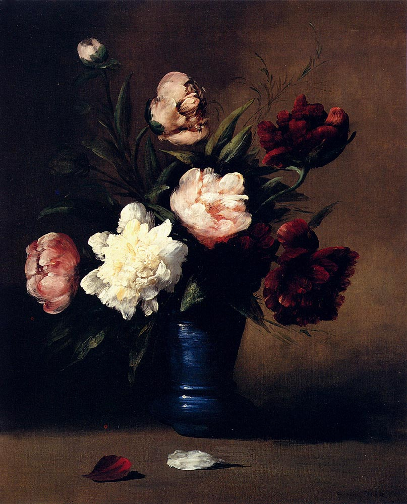 Theodul-Augustin The RIBO. Bouquet in a blue vase